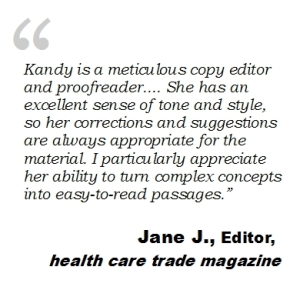 health care copy editor and proofreader recommendation