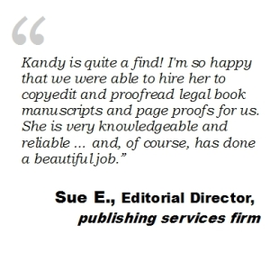 legal, law book copy editor and proofreader recommendation